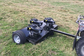 Towable topping mower, topper, mower, Smokey Goat, New Zealand